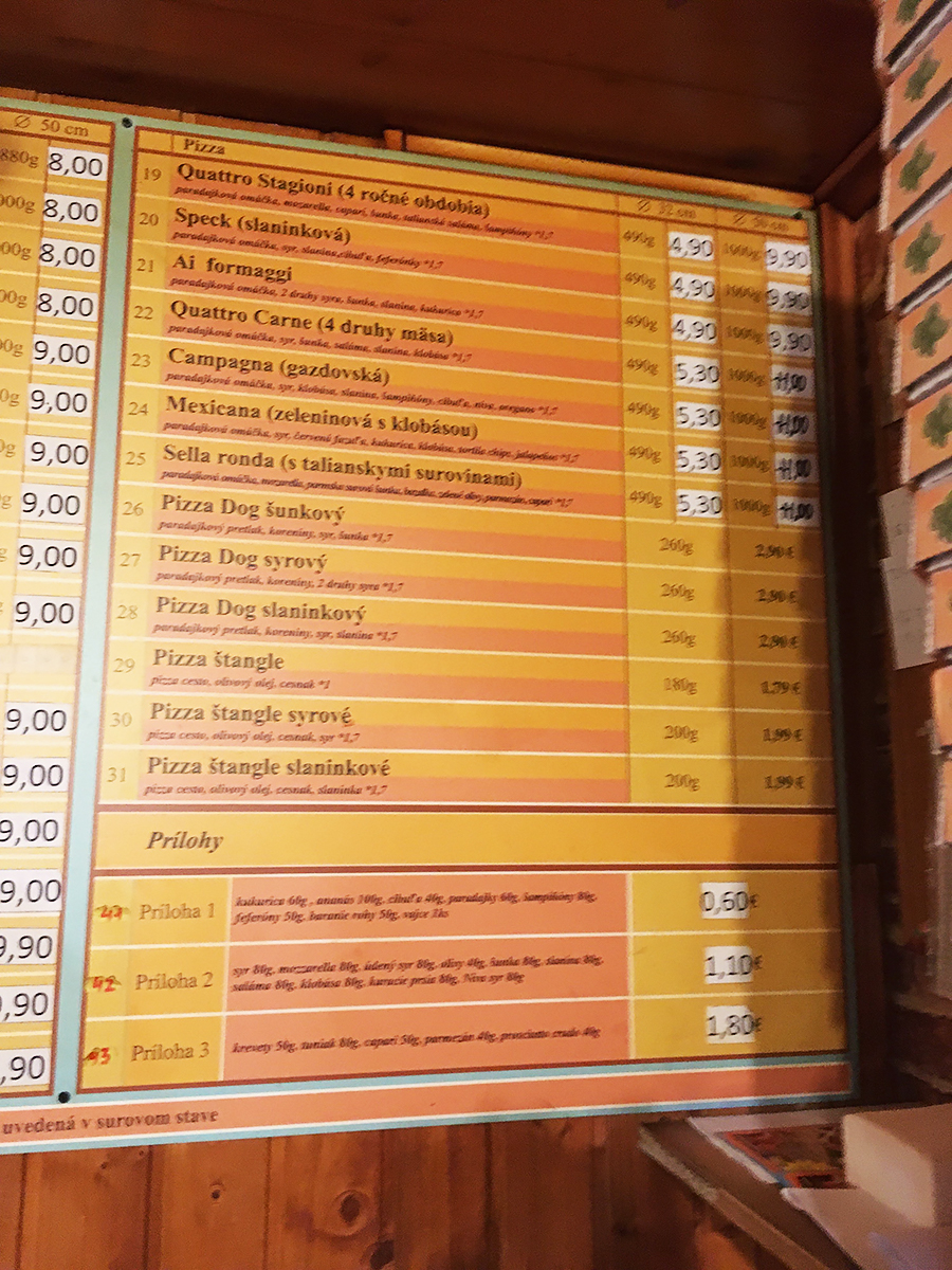 Perfect Pizza Miletičova - ponuka pizze